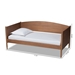 Baxton Studio Veles Mid-Century Modern Ash Wanut Finished Wood Daybed - MG0016-Ash Walnut-Daybed
