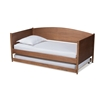 Baxton Studio Veles Mid-Century Modern Ash Wanut Finished Wood Daybed with Trundle Baxton Studio restaurant furniture, hotel furniture, commercial furniture, wholesale bedroom furniture, wholesale full, classic full