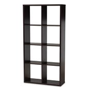 Baxton Studio Janne Modern and Contemporary Dark Brown Finished 8-Cube Multipurpose Storage Shelf Baxton Studio restaurant furniture, hotel furniture, commercial furniture, wholesale living room furniture, wholesale shelve, classic shelve