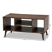 Baxton Studio Linas Mid-Century Modern Walnut Finished Coffee Table - CT8001-Columbia Walnut-CT