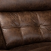 Baxton Studio Vesa Modern and Contemporary Brown Leather-Like Fabric Upholstered 6-Piece Sectional Recliner Sofa with 2 Reclining Seats - 7271C-Brown-SF