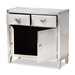 Baxton Studio Romain French Industrial Silver Metal 2-Door Accent Storage Cabinet - LD18B051-Silver-Cabinet