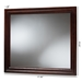 Baxton Studio Barton Modern and Contemporary Dark Brown Finished Wood Dresser Mirror - IDB022-MR