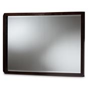 Baxton Studio Tichenor Modern and Contemporary Dark Brown Finished Wood Dresser Mirror Baxton Studio restaurant furniture, hotel furniture, commercial furniture, wholesale living room furniture, wholesale mirror, classic mirror