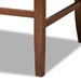 Baxton Studio Alira Modern and Contemporary Beige Fabric Upholstered Walnut Finished Wood Button Tufted Bar Stool Bench - BBT5349-Beige/Walnut-Bench