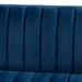 Baxton Studio Aveline Glam and Luxe Navy Blue Velvet Fabric Upholstered Brushed Gold Finished 2-Piece Living Room Set - TSF-BAX66113-Navy/Gold-2PC Set
