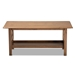 Baxton Studio Reese Traditional Transitional Walnut Brown Finished Rectangular Wood Coffee Table - SW5208-Walnut-M17-CT