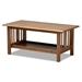 Baxton Studio Rylie Traditional Transitional Mission Style Walnut Brown Finished Rectangular Wood Coffee Table - SW135-Walnut-M17-CT
