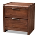 Baxton Studio Torres Modern and Contemporary Brown Oak Finished 2-Drawer Wood Nightstand - Torres-Rain Oak-NS
