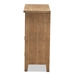 Baxton Studio Clement Rustic Transitional Medium Oak Finished 2-Door and 2-Drawer Wood Spindle Accent Storage Cabinet - LD19A006-Medium Oak-Cabinet