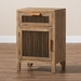 Baxton Studio Clement Rustic Transitional Medium Oak Finished 1-Door and 1-Drawer Wood Spindle Nightstand - LD19A008-Medium Oak-NS