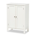 Baxton Studio Thelma Cottage and Farmhouse White Finished 2-door Wood Multipurpose Storage Cabinet - SR1801045-White-Cabinet