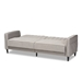 Baxton Studio Colby Mid-Century Modern Light Grey Fabric Upholstered Sleeper Sofa - 3042A-Grey-SF