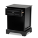 Baxton Studio Chase Modern Transitional Black Finished 1-Drawer Wood Nightstand - SR161050-Black-NS