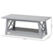 Baxton Studio Germain Modern and Contemporary Light Grey Finished Wood Coffee Table - SR1706097-Light Grey-CT