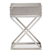 Baxton Studio William Modern French Industrial Silver Metal 1-Drawer Nightstand - JY1955-NS
