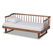 Baxton Studio Muriel Modern and Transitional Walnut Brown Finished Wood Expandable Twin Size to King Size Spindle Daybed Baxton Studio restaurant furniture, hotel furniture, commercial furniture, wholesale bedroom furniture, wholesale twin, classic twin