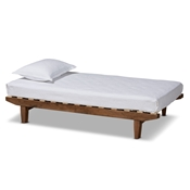 Baxton Studio Hiro Modern and Contemporary Walnut Finished Wood Expandable Twin Size to King Size Bed Frame Baxton Studio restaurant furniture, hotel furniture, commercial furniture, wholesale bedroom furniture, wholesale twin, classic twin
