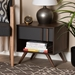 Baxton Studio Naoki Modern and Contemporary Two-Tone Grey and Walnut Finished Wood 1-Drawer Nightstand - LV15ST15240-Columbia/Dark Grey-NS