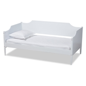 Baxton Studio Alya Classic Traditional Farmhouse White Finished Wood Twin Size Daybed Baxton Studio restaurant furniture, hotel furniture, commercial furniture, wholesale bedroom furniture, wholesale twin, classic twin