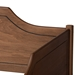 Baxton Studio Alya Classic Traditional Farmhouse Walnut Brown Finished Wood Twin Size Daybed with Roll-Out Trundle Bed - MG0016-1-Walnut-Daybed with Trundle