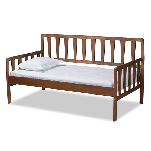 Baxton Studio Midori Modern and Contemporary Transitional Walnut Brown Finished Wood Twin Size Daybed