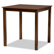 Baxton Studio Lenoir Modern and Contemporary Walnut Brown Finished Wood Counter Height Pub Table Baxton Studio restaurant furniture, hotel furniture, commercial furniture, wholesale bar furniture, wholesale bar table, classic bar table