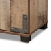 Baxton Studio Cyrille Modern and Contemporary Farmhouse Rustic Finished Wood 3-Door Shoe Cabinet - ID-SC002-Yosemile Oak-Shoe Rack