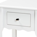 Baxton Studio Hailey Classic Traditional and Transitional White Finished Wood 1-Drawer Nightstand - SR1703016-White-NS