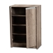 Baxton Studio Langston Modern and Contemporary Weathered Oak Finished Wood 2-Door Shoe Cabinet - MH7125-Oak-Shoe Cabinet