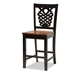 Baxton Studio Gervais Modern and Contemporary Transitional Two-Tone Dark Brown and Walnut Brown Finished Wood 5-Piece Pub Set - RH339P-Dark Brown/Walnut-5PC Pub Set