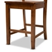 Baxton Studio Nicolette Modern and Contemporary Transitional Walnut Brown Finished Wood 2-Piece Counter Stool Set - RH340P-Walnut Wood Scoop Seat-PC