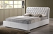 Bianca White Modern Bed with Tufted Headboard - King Size - BBT6203-White-King Bed