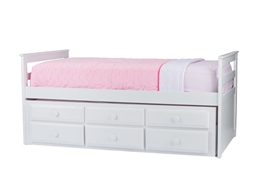 Baxton Studio Ballina White Wood Contemporary Twin-Size Trundle Bed Baxton StudioBallina White Wood Contemporary Twin-Size Trundle Bed, wholesale furniture, restaurant furniture, hotel furniture, commercial furniture