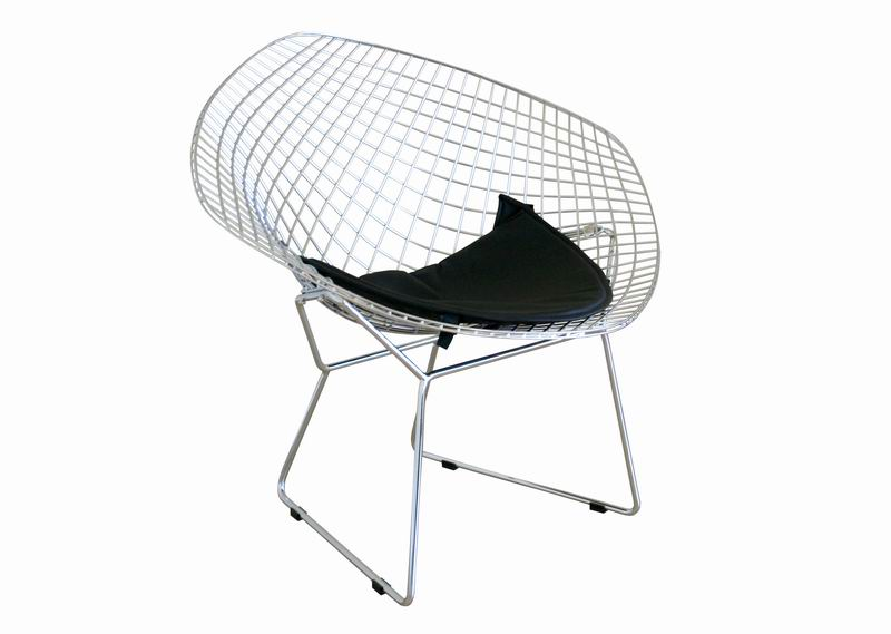 Baxton Studio Bertoia Style Diamond Wire Chair   8300 ...
