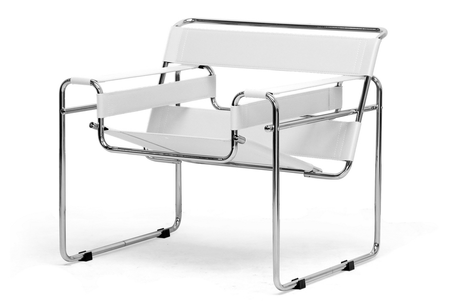 Outstanding Jericho Cream Leather Mid Century Modern Accent Chair Inzonedesignstudio Interior Chair Design Inzonedesignstudiocom