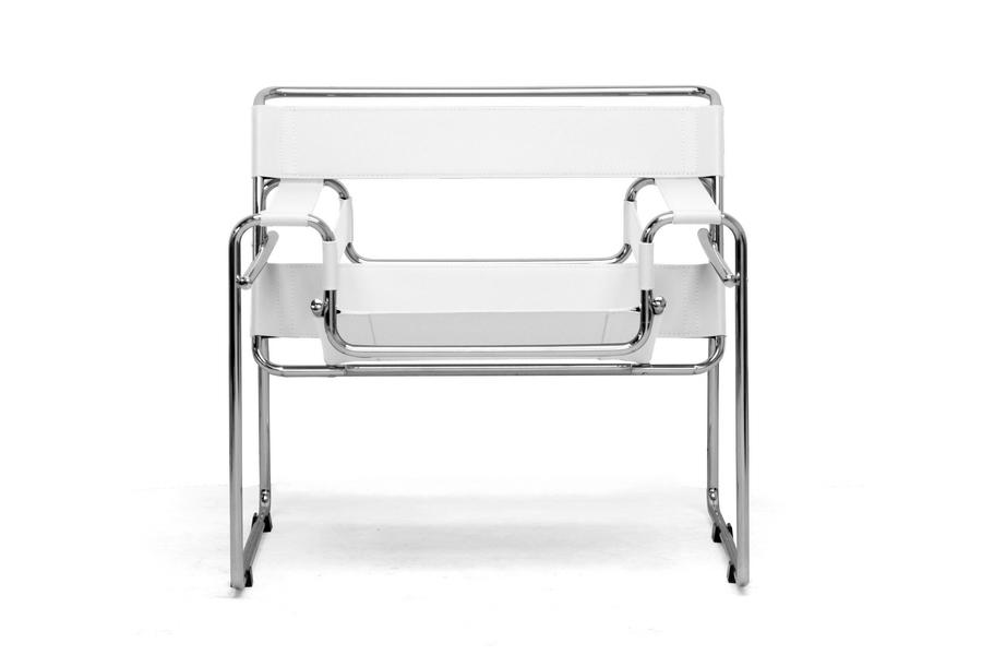 ... Baxton Studio Jericho Cream Leather Mid Century Modern Accent Chair    ALC 3001 White ...