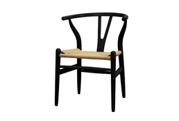 Baxton Studio Wishbone Chair - Black Wood Y Chair (Set of 2) Wishbone Chair - Black Wood Y Chair wholesale, wholesale furniture, restaurant furniture, hotel furniture, commercial furniture