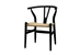 Baxton Studio Wishbone Chair - Black Wood Y Chair (Set of 2) - DC-541-black