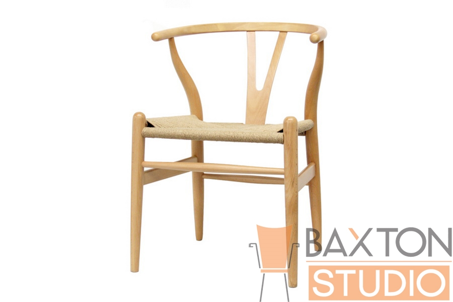 Baxton Studio Wishbone Chair   Natural Wood Y Chair Claus Wood Chair  Wholesale, Wholesale Furniture