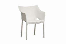 Baxton Studio White Molded Plastic Arm Chair Set of 2 White Plastic Arm Chair Set of 2 wholesale, wholesale furniture, restaurant furniture, hotel furniture, commercial furniture