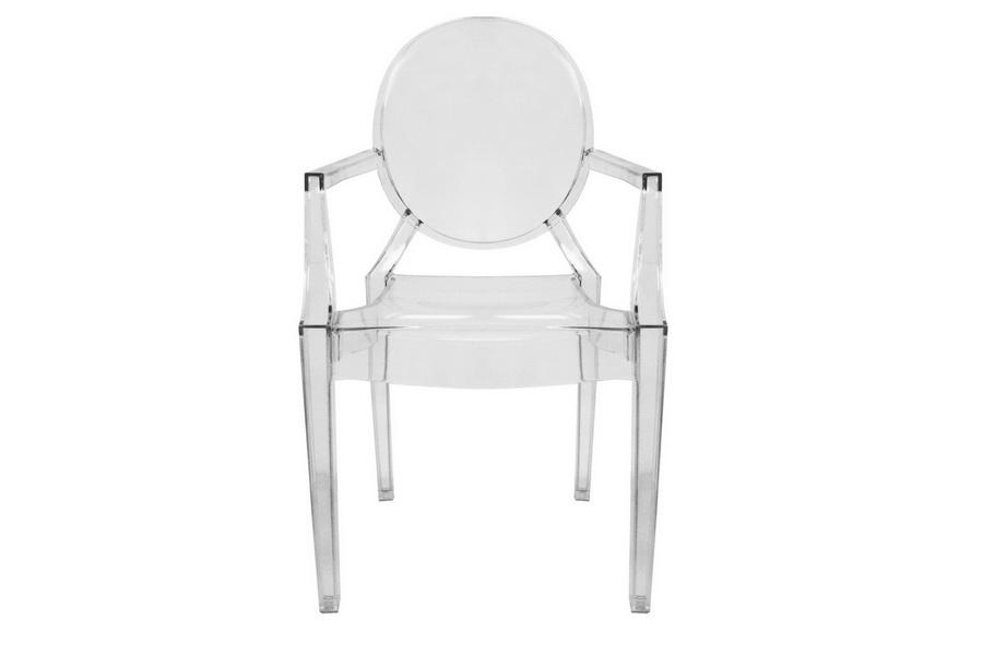 Baxton Studio Dymas Modern Acrylic Armed Ghost Chair   PC 449 Clear ...