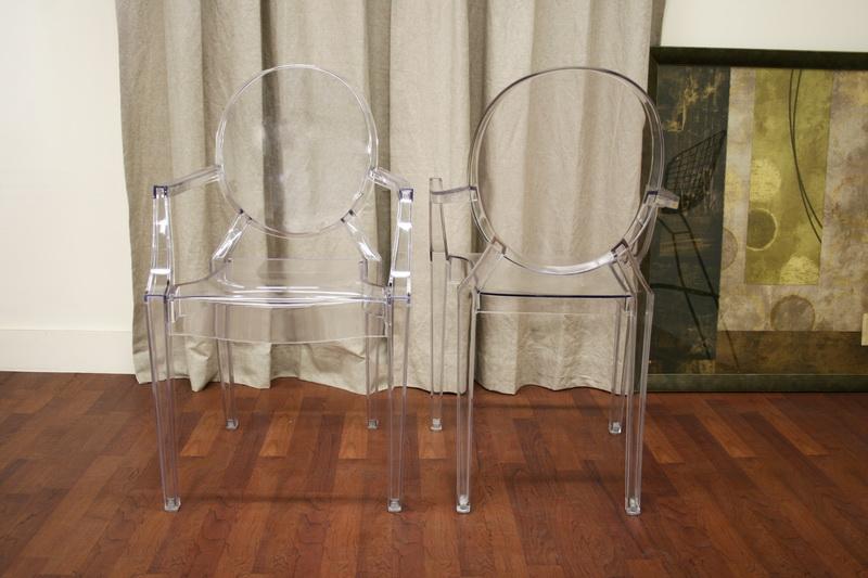 ... Baxton Studio Dymas Modern Acrylic Armed Ghost Chair   PC 449 Clear ...
