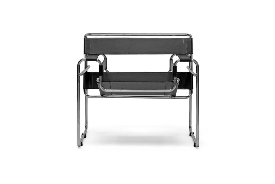 Jericho Black Leather Accent Chair Wholesale Interiors