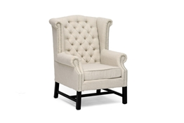 Baxton Studio Sussex Beige Linen Club Chair  Sussex Beige Linen Club Chair wholesale, wholesale furniture, restaurant furniture, hotel furniture, commercial furniture