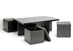 Baxton Studio Prescott Modern Table and Stool Set with Hidden Storage - CT-1190-CTS-1190