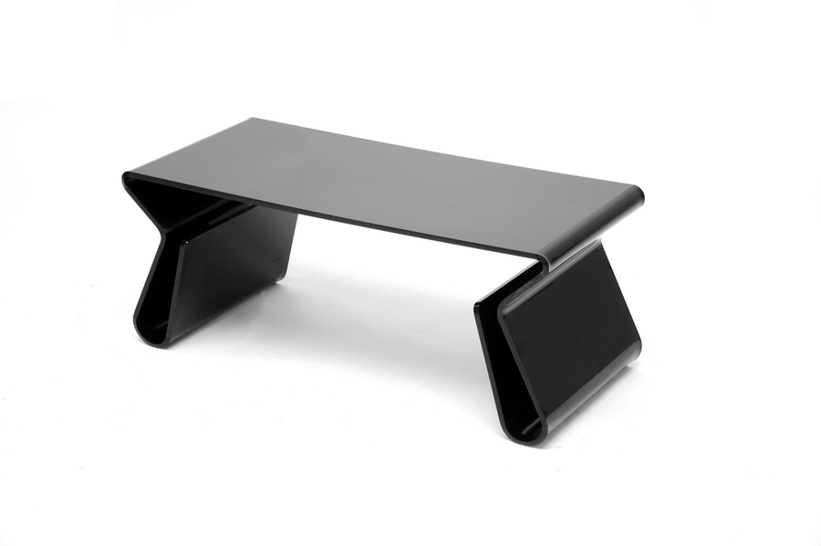 Acrylic Black Coffee Table With Magazine Rack Wholesale Interiors