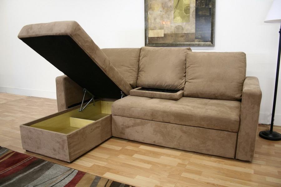 baxton studio linden tan microfiber convertible sectional sofa bed lfc lan121
