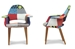 Baxton Studio Forza Patchwork Mid-Century Style Accent Chair (Set of 2) - DC-594V-Patch