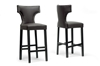 Wholesale Interiors Baxton Studio Hafley Brown Modern Bar Stool (Set of 2)